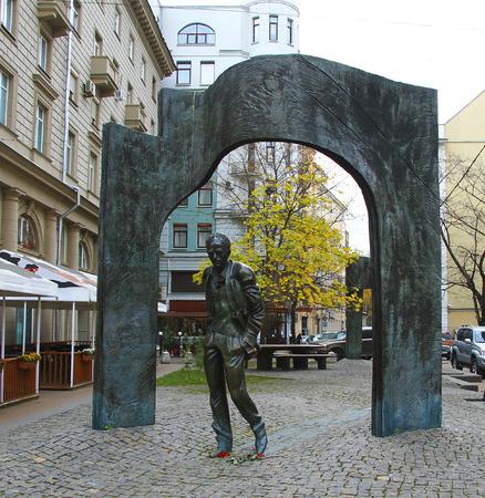 The Monument of Bulat Okudzhava on the Arbat street, Moscow, Russian Federation