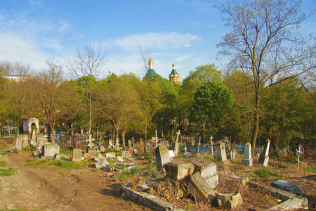The Old cemetary. Historical part of Pyatigorsk Stock Photo