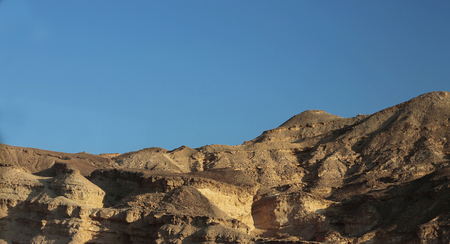 The Egyptian Desert at the daytime And clear blue Sky, North Africa