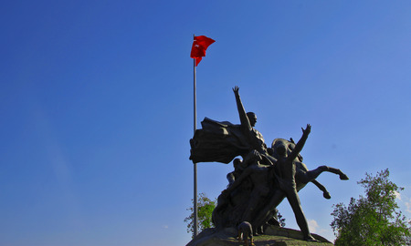 The Mustafa Kemal Ataturk monument in Antalya Turkey Stock Photo