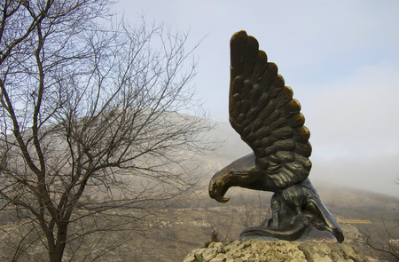 The Eagle is Pyatigorsk Emblems in autumn. Northern Caucasus landmarks, Russian Federation
