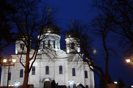 The Cathedral of Christ the Savior in Pyatigorsk in wintertime  Imagens