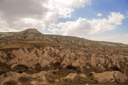 Cappadocia landscape. Valley of Cappadocia view at daytime, Goreme Turkey