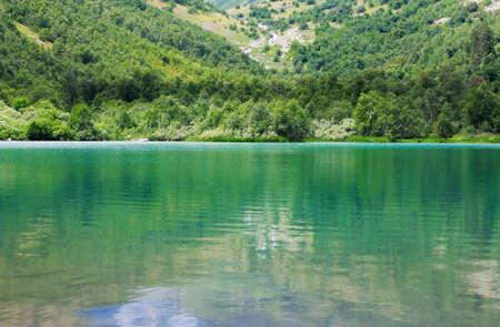 Baduk mountain green lake of Teberda and Dombai, South of Russian Federation Standard-Bild