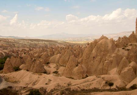 Beautiful view of valley of Cappadocia mountains, Goreme Turkey