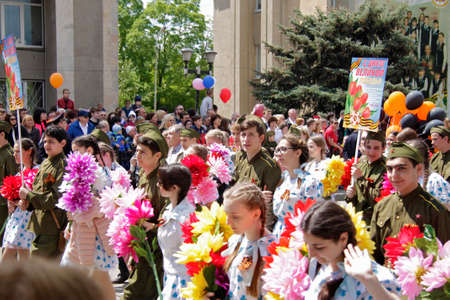 Victory Parade of The 71Th Anniversary Of The Victory Day, Pyatigorsk Russia - May 09, 2016 Sajtókép