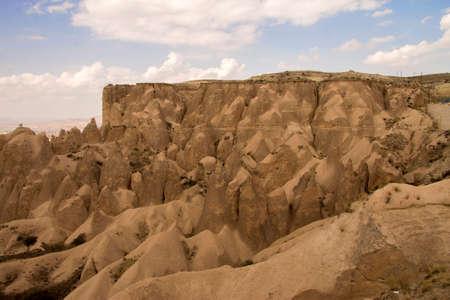 Cappadocia National park landscape. Valley of Cappadocia mountains view at daytime, Goreme Turkey