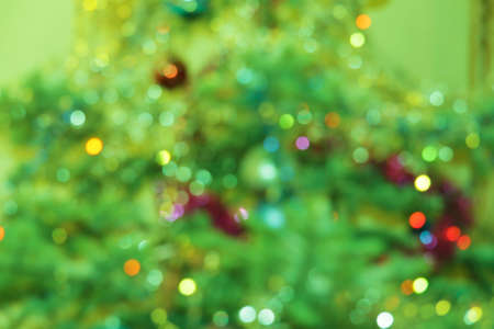 Background of The Christmas Tree Decoration Hanging On The Christmas Tree Stock Photo