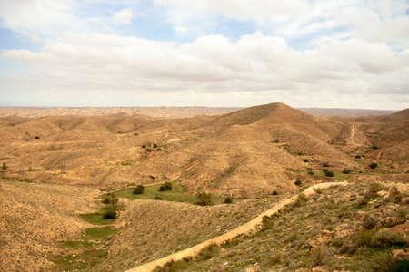 Desert landscape near Matmata in the south of Tunisia, North Africa Stock fotó