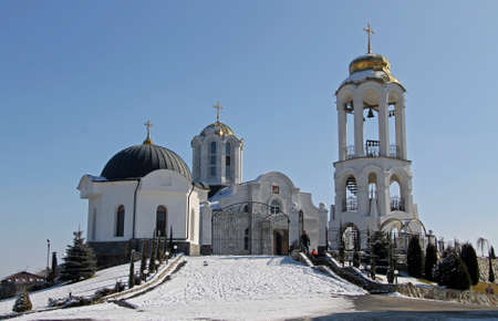 St. George monastery winter time, Essentuki, Russian Federation 07 january 2015