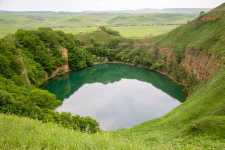 Lake Small Shadcurey, Sarnakovo, Kabarda, Northern Caucasus, Russian Federation Stock fotó