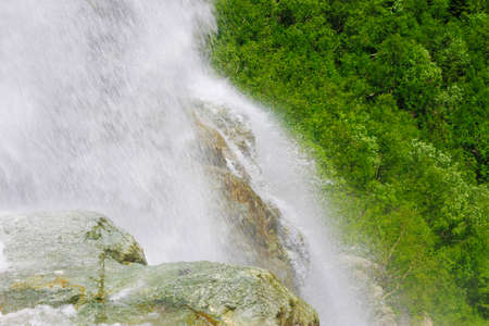 The Alibek Waterfall. Dombay Mountains. The Northern Caucas mountain landscapes, Russian Federation