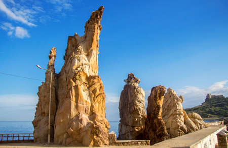 Famous rocks on the seashore of Tabarca, Tunisia