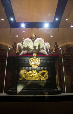 Sacred crown of Austria inside the Klosterneuburg monastery of Roman Catholic church near Vienna Austria 04 November 2018 Editorial