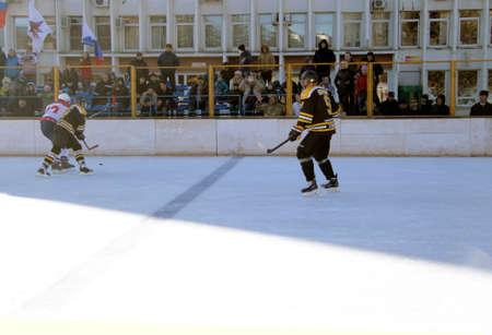 Hockey championship The Cup of Mayor Pyatigorsk. Russia, Pyatigorsk 31 January 2015