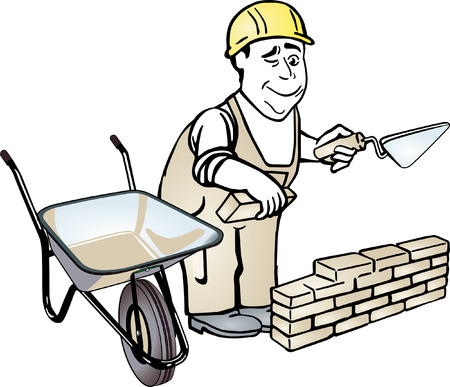 mason: bricklayer Illustration
