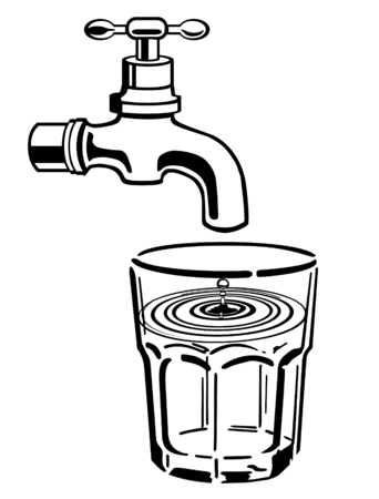 tap with water: drink water Illustration