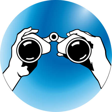 binoculars view: to search