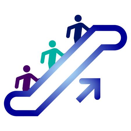 escalator upside  Ilustração