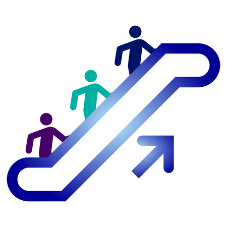 escalator upside  Stock Vector - 6272594
