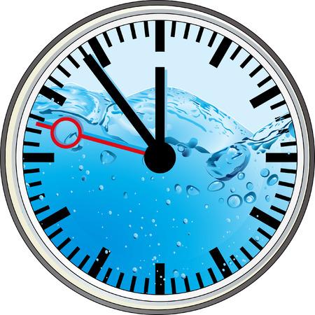 reflejo en el agua: el clima es �spero  Vectores