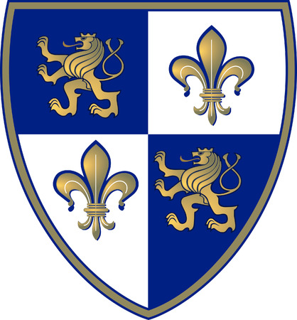 royal person: coat of arms, Lion and Lillie
