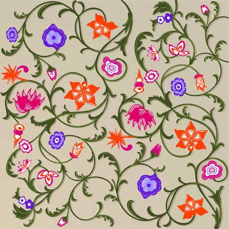 wallpaper: floral pattern  Illustration