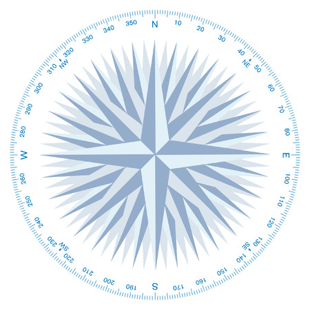 travel star: compass wind-rose Illustration