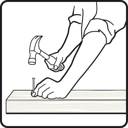 carpenter by trade Stock Vector - 6464534