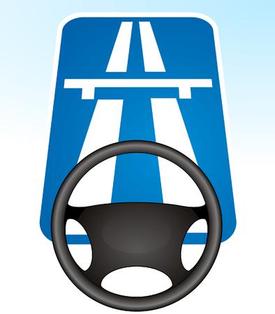 autobahn, express highway  Stock Vector - 6464524