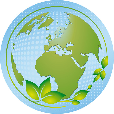 the green and blue planet  Stock Vector - 6464575
