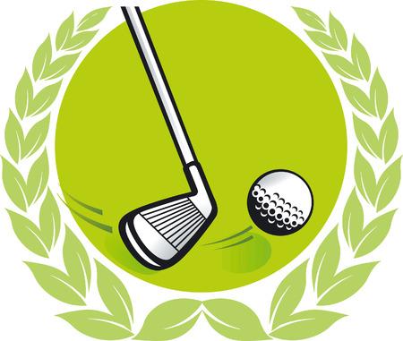 golfclub: Golf kampioen  Stock Illustratie