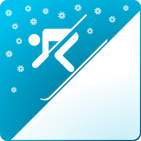 wintersport: skier and snow