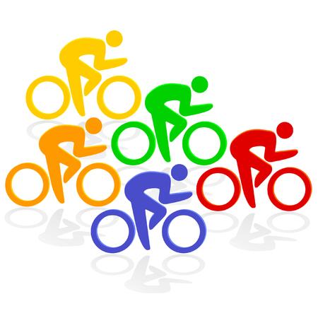 intense: ciclismo colorato