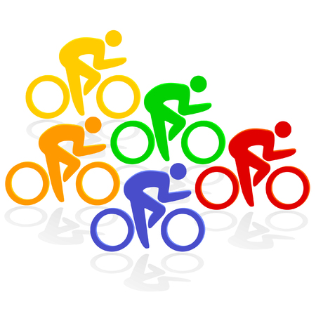 cycling colorful  Stock Vector - 6480715