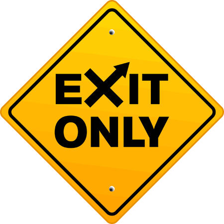indicative: Exit Only sign Illustration