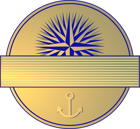 signet: Marine Label  Illustration