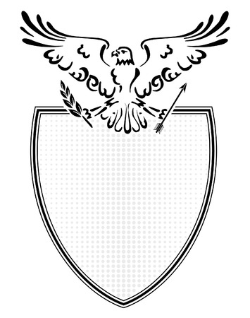 coat of arms spread eagle  Vector