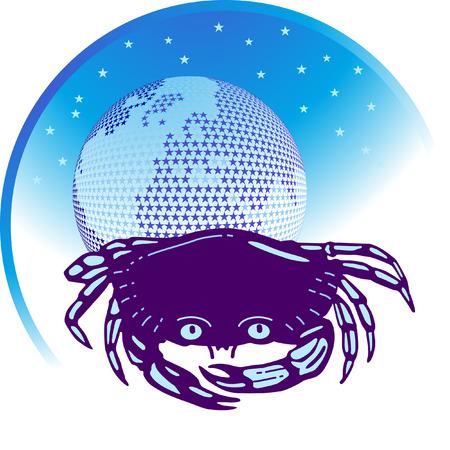 zodiacal sign: signo zodiacal c�ncer Vectores