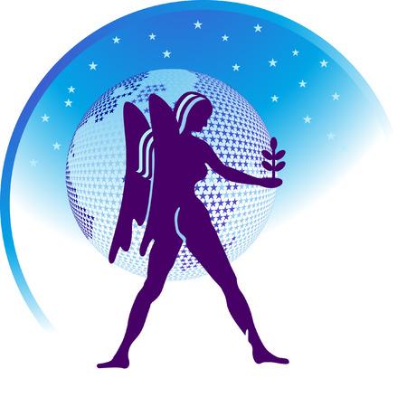 capricorn: zodiac sign Virgo  Illustration