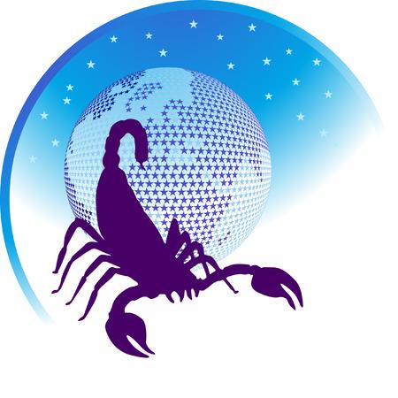 aries: signo zodiacal Escorpio  Vectores