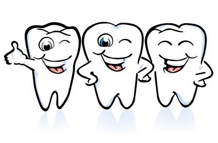 disposición de los dientes, en buenas condiciones
