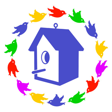 birdhouse  Stock Vector - 6480770
