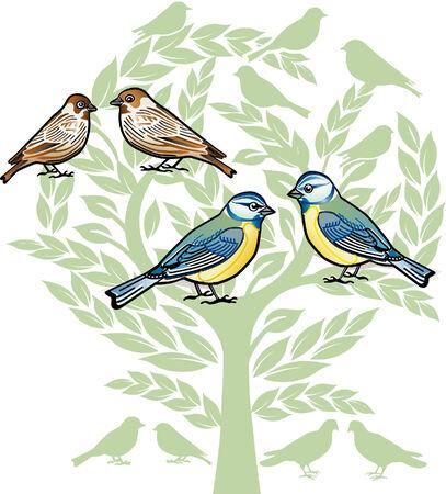 chickadee: birds to celebrate a wedding