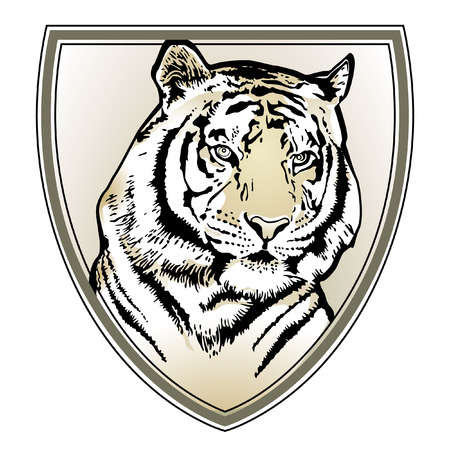 Tiger crest  Stock Vector - 6513538