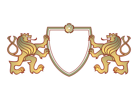 a couple of lions crest  Vector