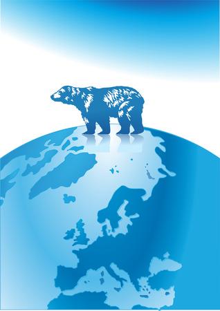 polar bear north pole Stock Vector - 6513547