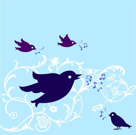 chirp: bird to tweet  Illustration