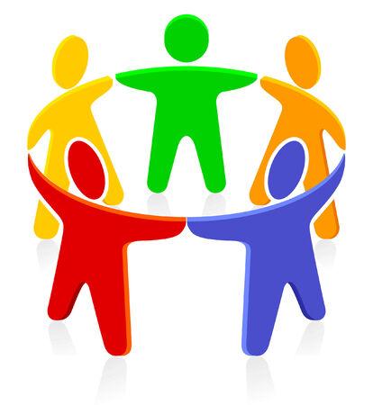 mensen kring: bij elkaar