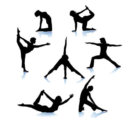 yoga gymnastics Stock Vector - 6513622